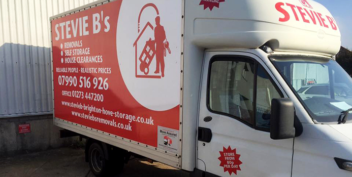 One of our vans at our Brighton Self Storage Depot